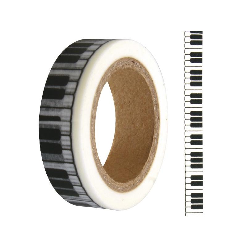 Washi tape touches de piano RAYHER 15mm x 15m