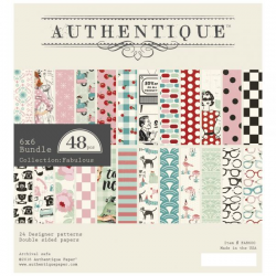 Bloc de 48 feuilles de scrap AUTHENTIC Fabulous