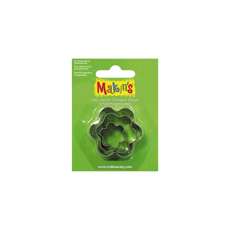 3 emportes pièces métal fleurs MAKIN'S CLAY