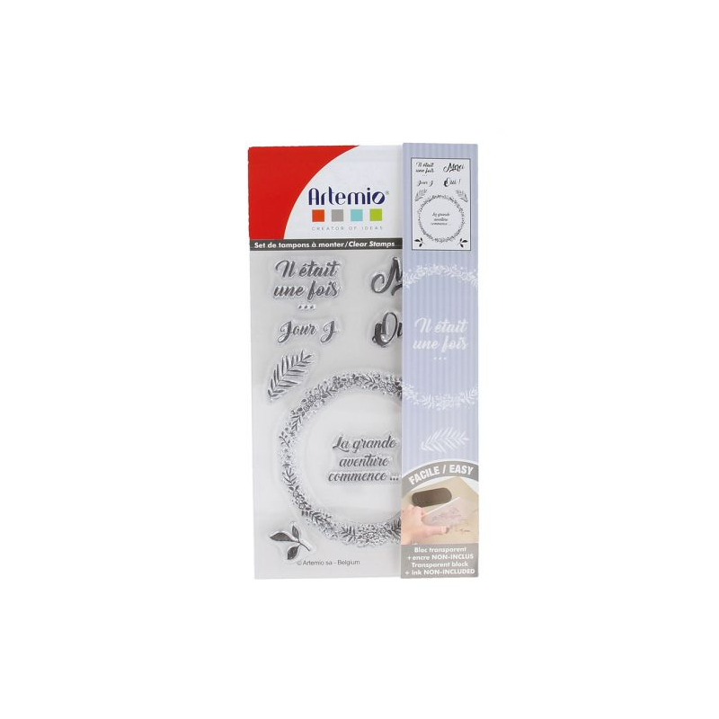 Tampons transparents Love mariage ARTEMIO