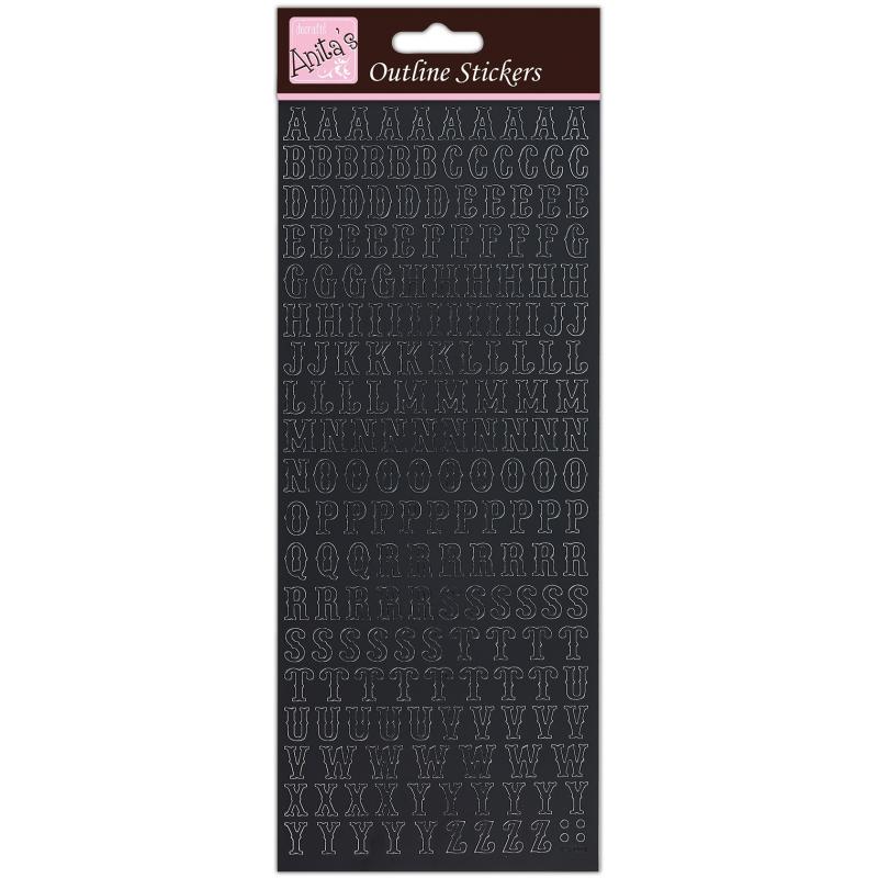 Planche de stickers peel off noir alphabet traditionnel DOCRAFT