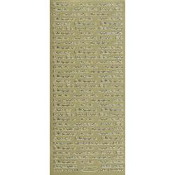 Planche de stickers peel off doré textes fête - anniversaire