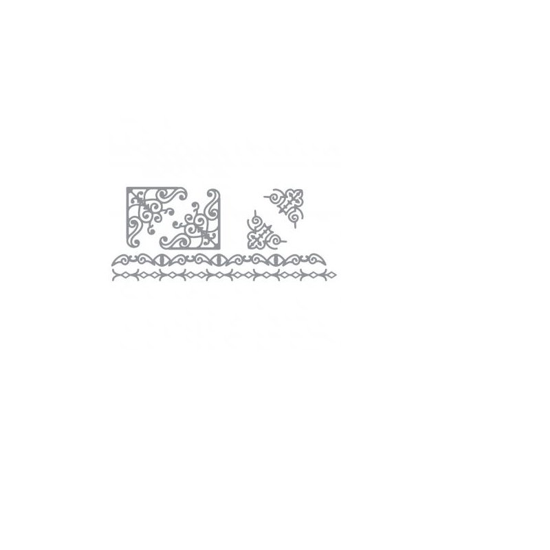 Planche de stickers peel off argent bordures Rayher