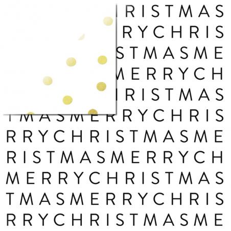 Papier recto verso 30,5cm x 30,5cm Merry Christmas - My mind's eye