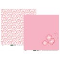Papier recto verso 30,5cm x 30,5cm pissenlit rose ARTEMIO