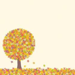 Papier recto verso 30,5cm x 30,5cm automne arbre ARTEMIO
