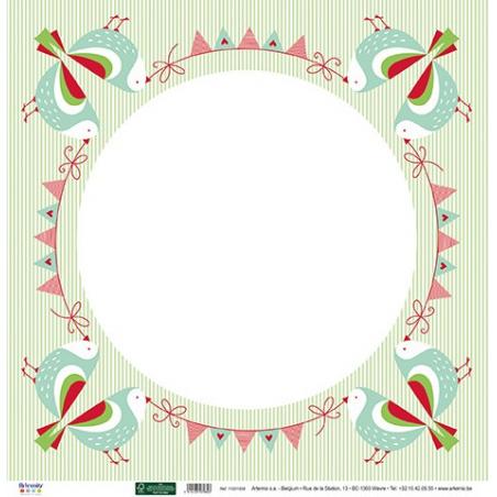 Papier recto verso 30,5cm x 30,5cm Noël classique ARTEMIO