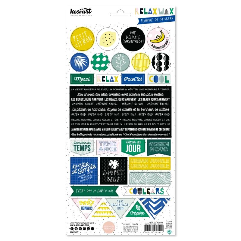 Stickers Relax wax - KESI'ART