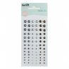 Perles nacrées grises autocollantes - KESI'ART