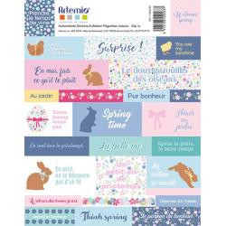 2 planches de stickers Pâques ARTEMIO