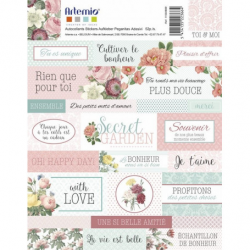 2 planches de stickers secret garden ARTEMIO
