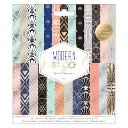 Bloc de 50 feuilles texturés Papermania Moderne déco
