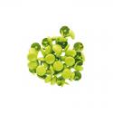 50 Grandes attaches parisiennes rondes couleurs vertes