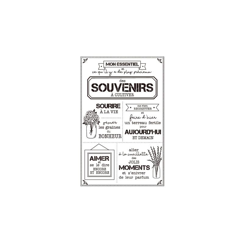 """Tampons transparents """"souvenirs"""""""