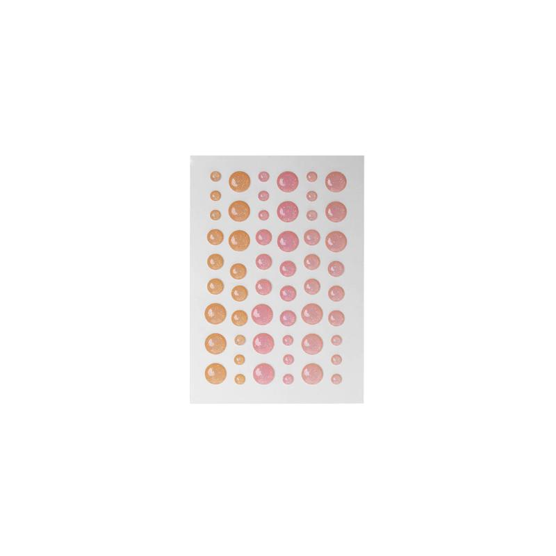 Dots orange, rose et rose pâle effet pailleté