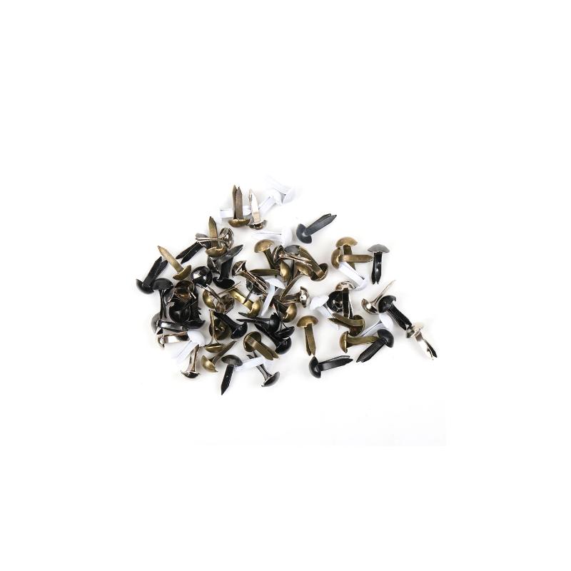 50 Attaches parisiennes rondes basiques