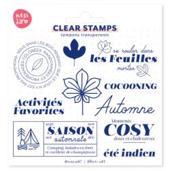 Tampons transparents automne KESI'ART