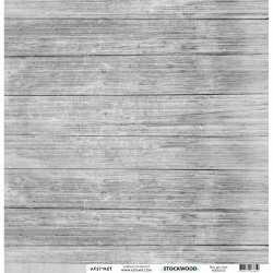 Papier recto verso 30,5cm x 30,5cm bois gris clair KESI'ART