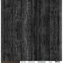 Papier recto verso 30,5cm x 30,5cm bois foncé KESI'ART