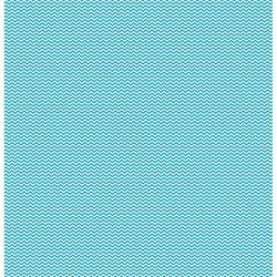 Papier recto verso Cardstock coeurs chevrons turquoise KESI'ART