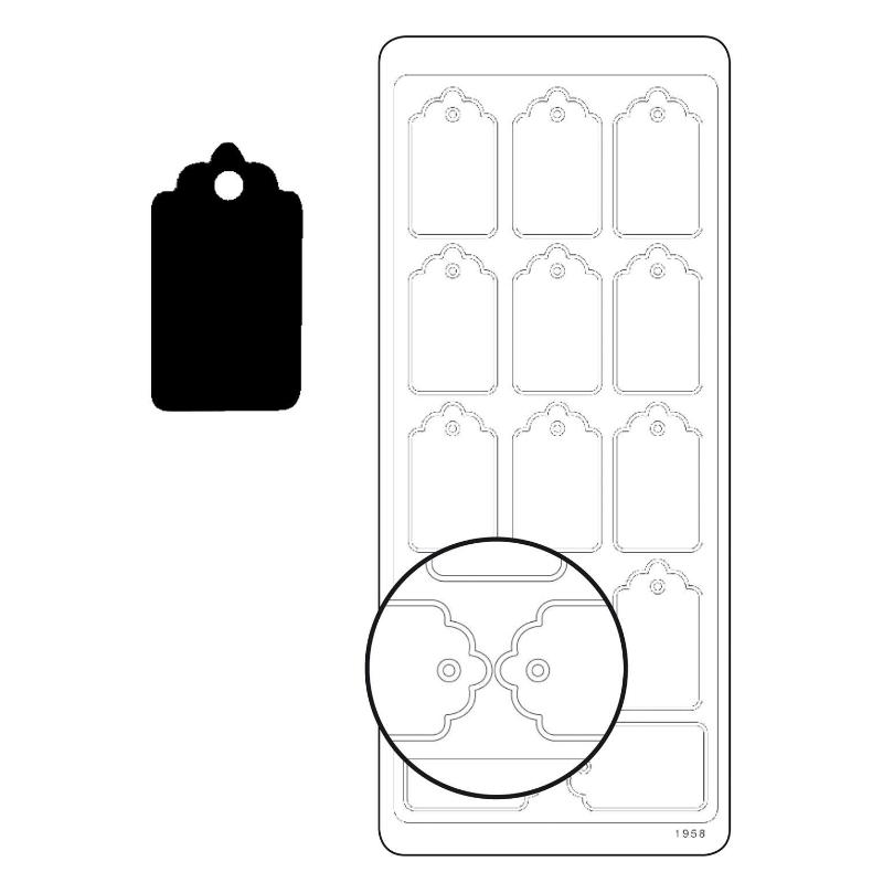 Planche de stickers peel off noir étiquettes