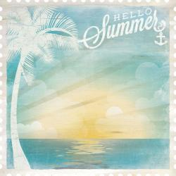 Papier en forme de timbre sandy toes KAISERCRAFT