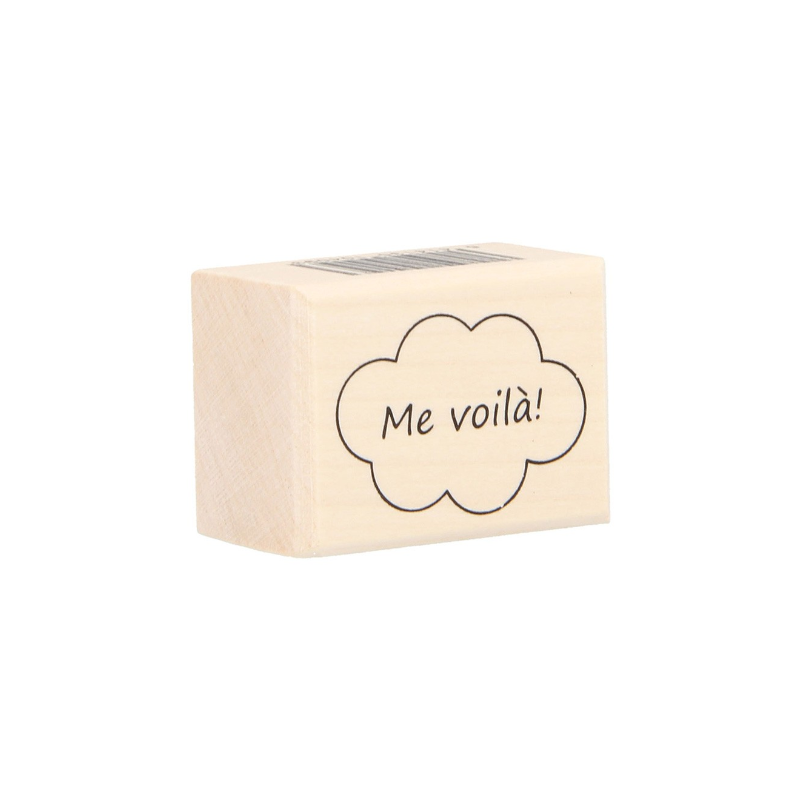 """Tampon bois ARTEMIO """"Me voilà"""""""