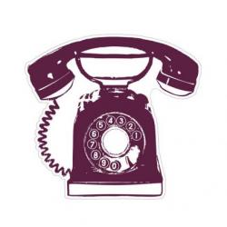 Tampon stampo maxi téléphone ALADINE