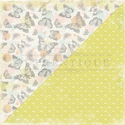 Bloc de 18 feuilles de scrap recto verso AUTHENTIQUE Dreamy