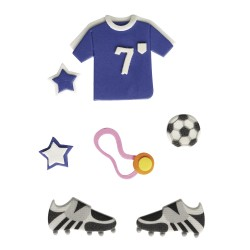 7 Stickers 3D football - RAYHER