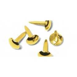 75 Attaches parisiennes rondes couleurs doré RAYHER