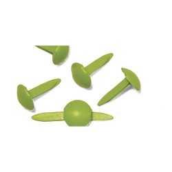 75 Attaches parisiennes rondes vert clair RAYHER