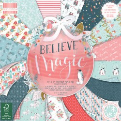 Bloc de 48 feuilles 30,5cm x 30,5cm recto verso, texturés believe in magic