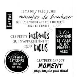"Tampons transparents ""instants de bonheur"""
