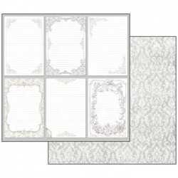 Pochette de 10 feuilles recto verso wedding Stamperia
