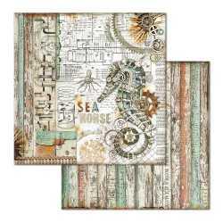 Pochette de 10 feuilles recto verso Sea World Stamperia