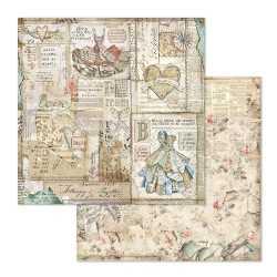 Pochette de 22 feuilles recto verso Imagine Stamperia