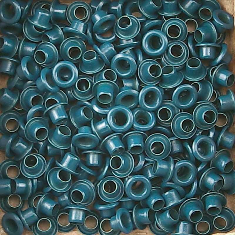 """50 Oeillets 1/8"""" bleu antique Vaessen creative"""
