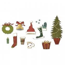 12 dies Sizzix thinlits festive things