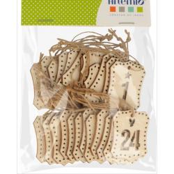 24 étiquettes chiffres en bois - ARTEMIO