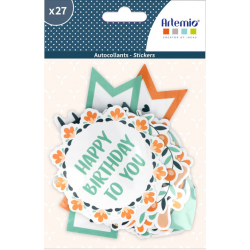 27 stickers XL blossom ARTEMIO
