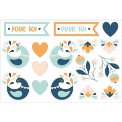 27 stickers XL blossom ARTEMIO