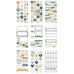 "Bloc de 30 feuilles de stickers ""Blossom"" ARTEMIO"