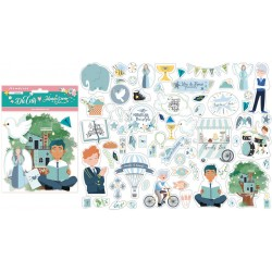 66 die cuts Stamperia Mi primera illusion nino