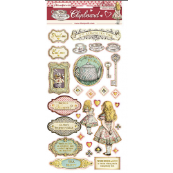 30 die cuts Stamperia Alice gold