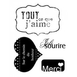 "Tampons transparents ""j'aime"""