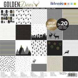 Bloc de 40 feuilles 30,5cm x 30,5cm Golden Deer ARTEMIO