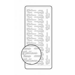 """Planche de stickers peel off doré """"Meilleurs voeux"""" 1"""