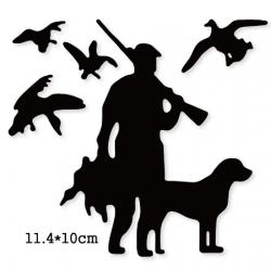 Dies chasseur et son chien