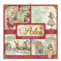 Pochette de 22 feuilles Alice Stamperia